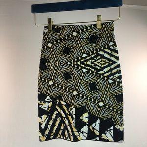 BCBGMaxazria Bandage Print Mini skirt